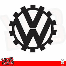 VW KDF LOGO VINYL STICKER X1 ( AUDI,VAG, VW, RAT LOOK...) SIZE 400MM DIA