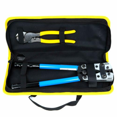 Battery Cable Lug Crimper Tool 6-50mm² Wire Crimping Tool Hand Electrician Pl...