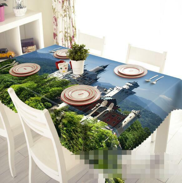 3D Castle 44 Tablecloth Table Cover Cloth Birthday Party Event AJ WALLPAPER AU