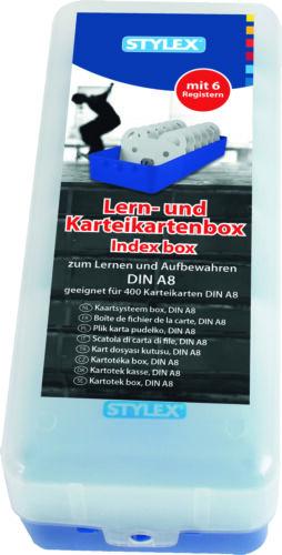 6 Registern Karteikasten DIN A8 Lernbox Lernkartei Vokabeltrainer Allzweckbox!