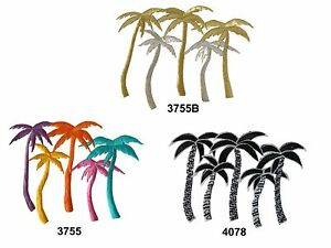 Golden-Silver-Black-White-Coconut-Grove-Embroidery-Iron-On-Applique-Patch