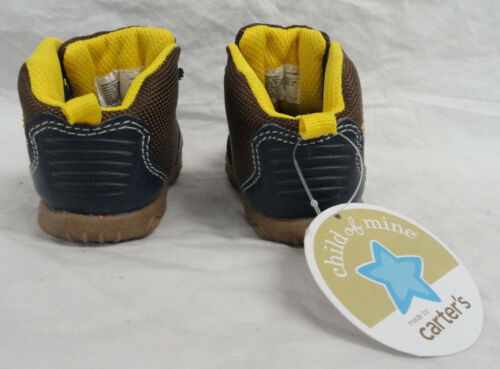 5 4 CHOOSE SIZE 3 NEW CARTERS INFANT BOYS BROWN//BLUE LACE-UP BOOTS