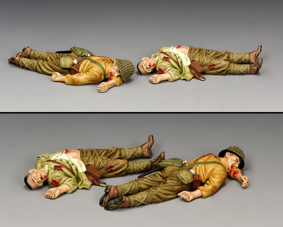 """KING AND COUNTRY """"Dead Japanese Set """" (2 x figs) WW2 JN048"""
