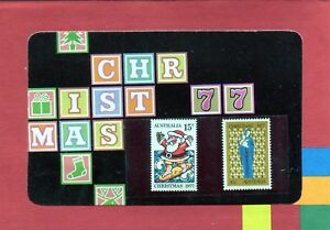 1977-Christmas-Issue-Set-Of-2-Stamp-Pack-Good-Cond-Unopened-Original