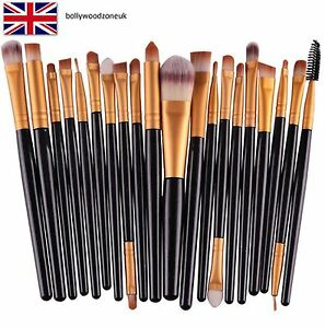 20-piezas-Conjunto-de-herramientas-de-Pincel-De-Maquillaje-componen-Kit-de-aseo-de-Lana-Maquillaje