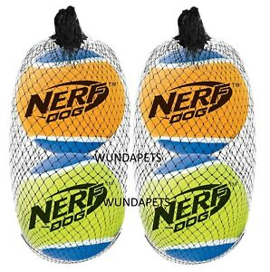 2-X-2-PK-LARGE-8-CM-NERF-DOG-SQUEAKY-TENNIS-BALLS-DOG-PUPPY-FETCH-TOYS-13871