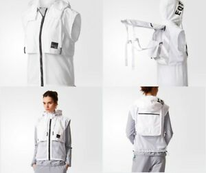 Adidas EQT TWO-IN-ONE VEST   BACKPACK One Size Unisex White w  Black ... ef48a53267b6d