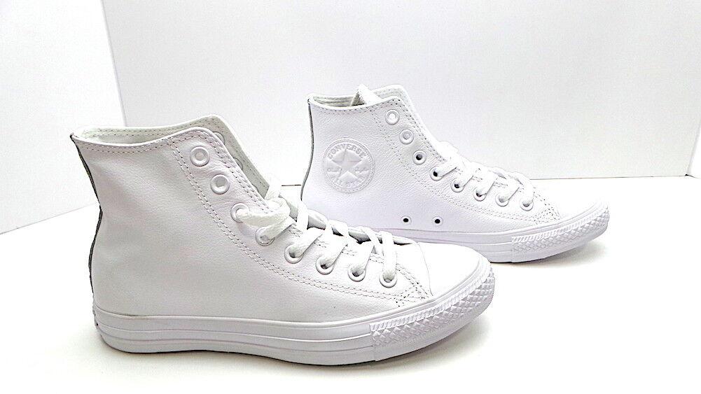 Scarpe Converse All Star Pelle Monochrome Bianche in Pelle Star total bianca unisex a8523d