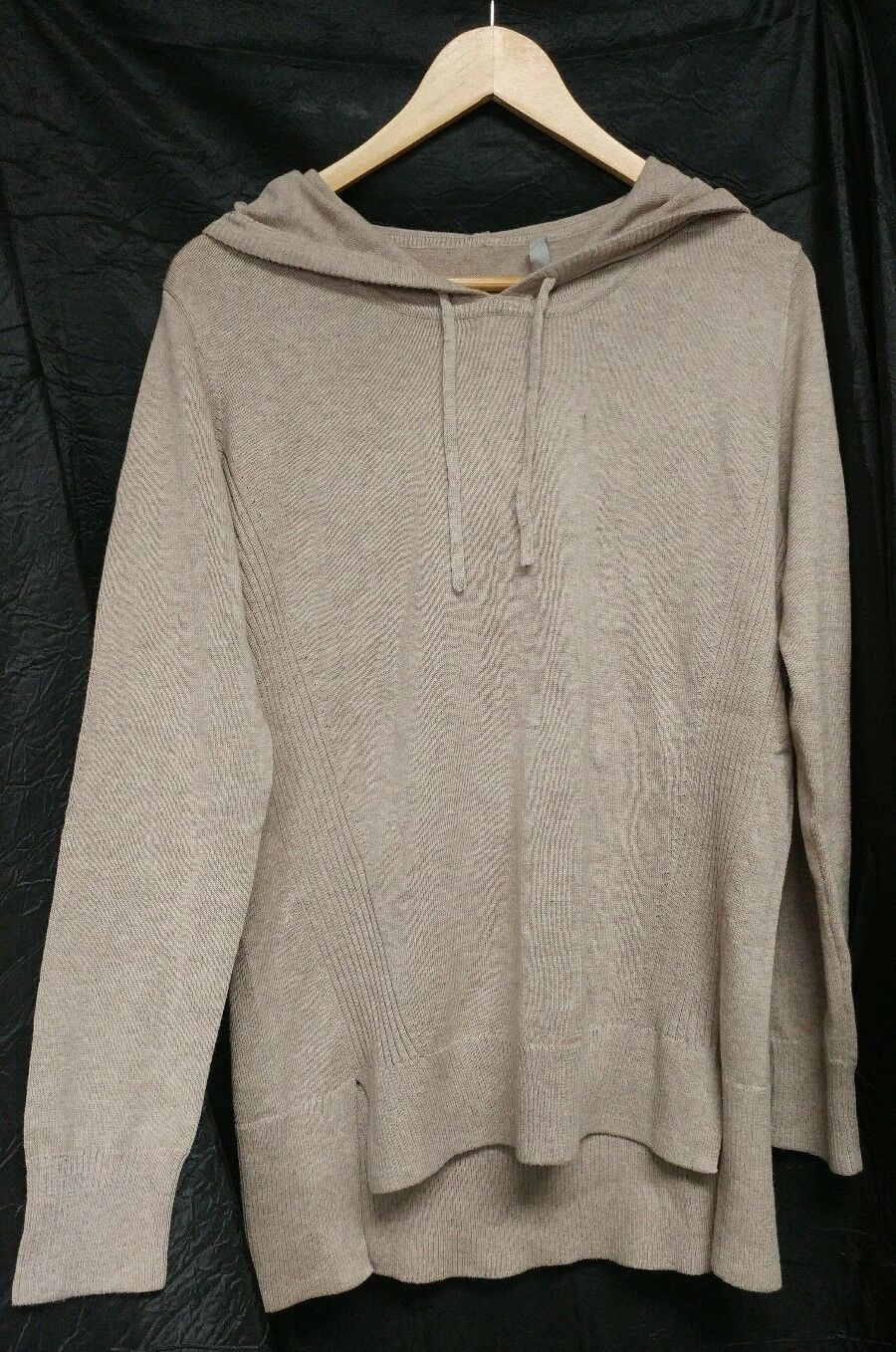 Athleta Winding River Foxtail Taupe Heather Hoodie Sweater NWT S Small