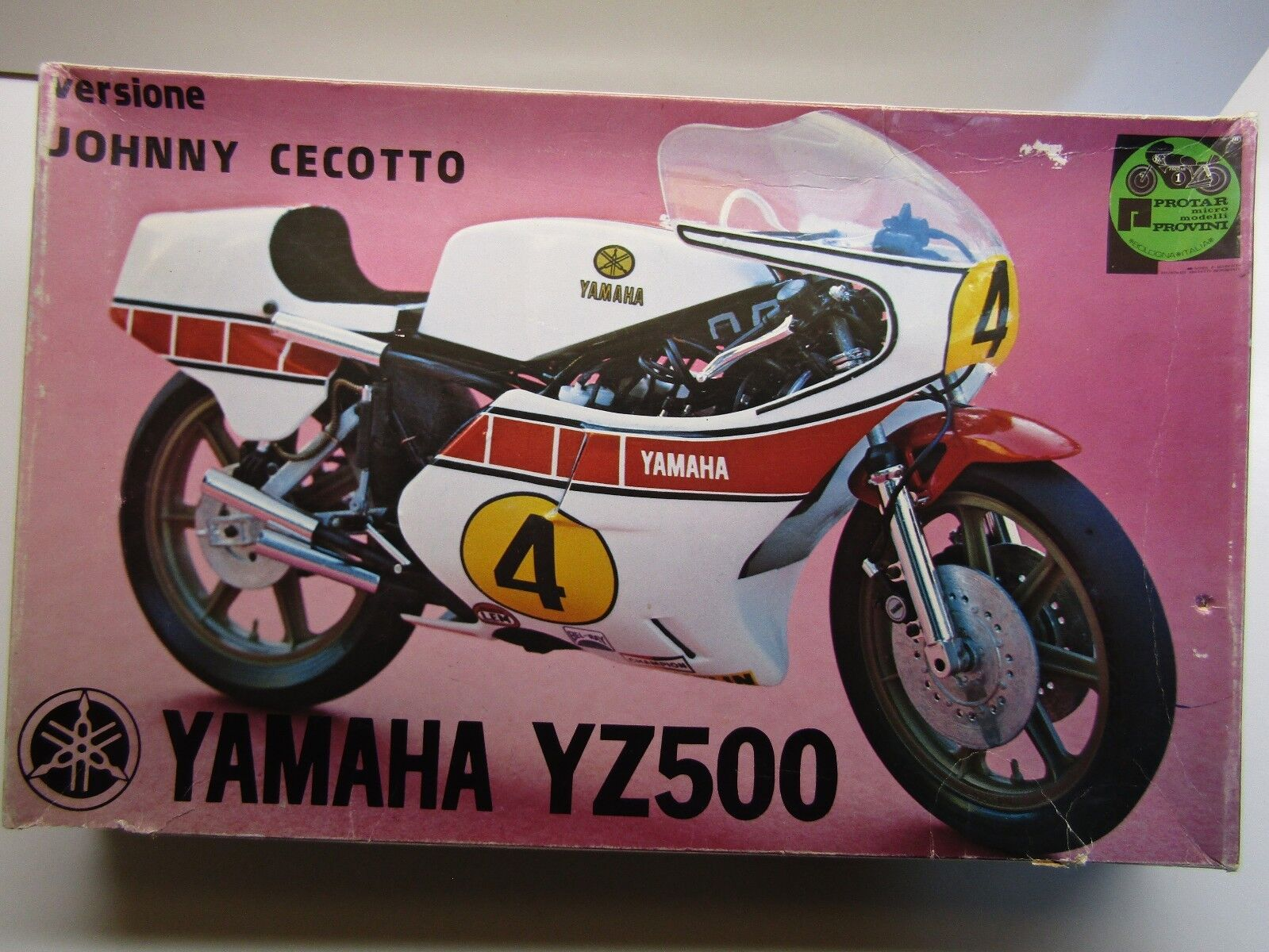 Predar Vintage 1 9 Scale Yamaha YZ500 Johnny Cecotto - Metal Frame etc Kit