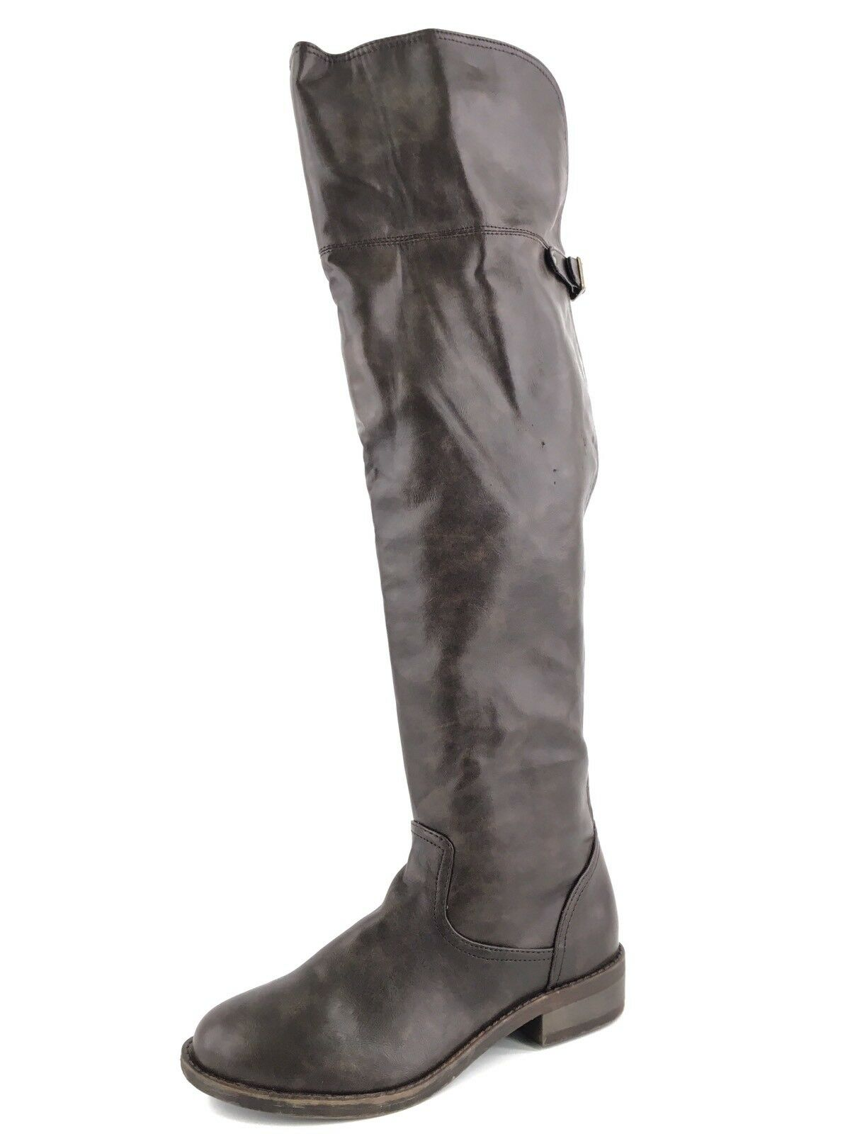 New Zigi Soho OCTAVIA Over The Knee Brown Leather Boots Womens Size 6 M