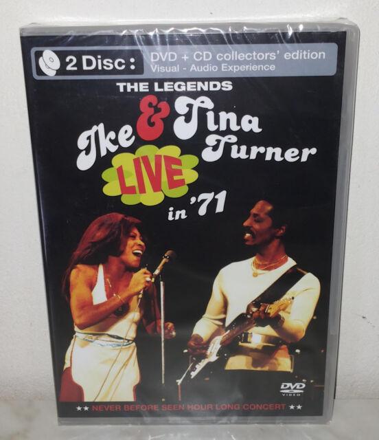 DVD + CD IKE & TINA TURNER - LIVE IN 71 - NUOVO NEW