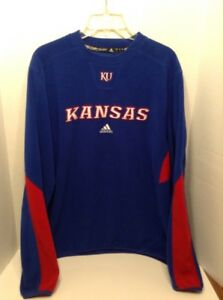 adidas NCAA Women/'s Kansas Jayhawks Climawarm Team Fleece Hoodie Blue
