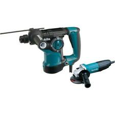 Makita Angle Grinder And Rotary Hammer 7 Amp Corded Led Light Sds Plus Case