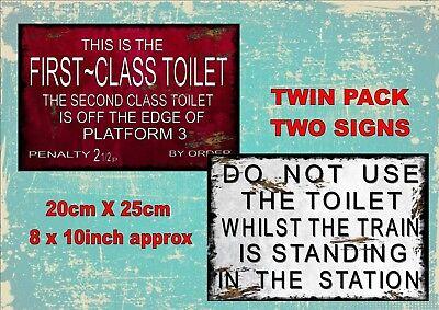 Railway Station Signe Reproduction British Rail Panneau De Toilettes Vintage