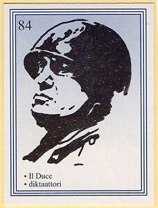 1990s-Finnish-Film-Star-Card-Fame-Alias-84-Italian-Il-Duce-Benito-Mussolini