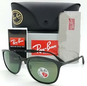 a969020262 NEW Rayban sunglasses RB4299 601 9A Black Green Polarized AUTHENTIC ...