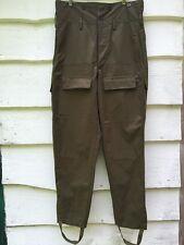 Vintage Green Military ARmy Cargo Pants OZKN Presov Slovakia Russia Soviet S