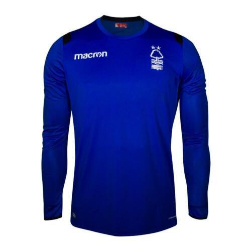 Nottingham Forest MACRON HOMME 1819 Gk Shirt-Large-Bleu-Neuf