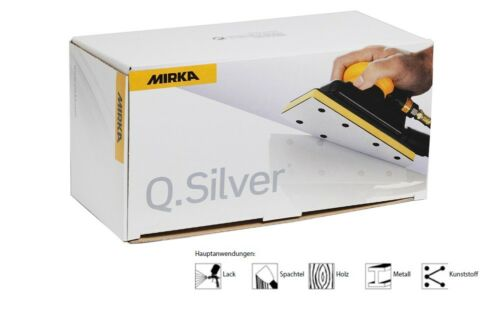Mirka Schleifstreifen Klett Q.Silver 70 x 125 mm ungelocht Körnung frei wählbar