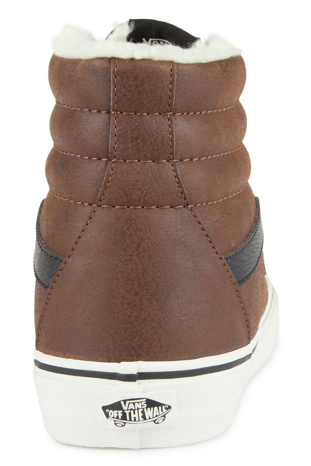 11e6221f32 VANS Sk8 Hi Reissue Trainers Leather Fleece Brown Marshmallow Mid ...