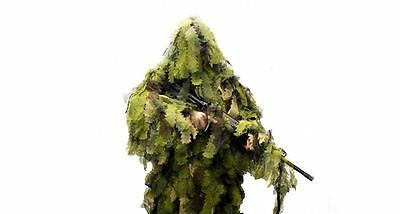 New M/L Ultimate Game Woodland Leaf Camo Hunting Forest Ghillie Suit 5 Piece