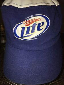 334dd5f41a Image is loading Vintage-Miller-Lite-Cap-Fitted-Navy-white-100-