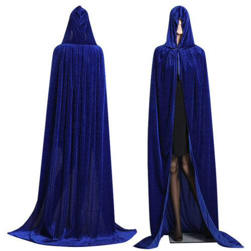 Unisex Men Women Hooded Cape Adult Long Cloak Halloween Costume Party Dress Coat