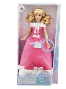 Disney-Store-Cinderella-Singing-Doll-11-034-Pink-Dress-NEW