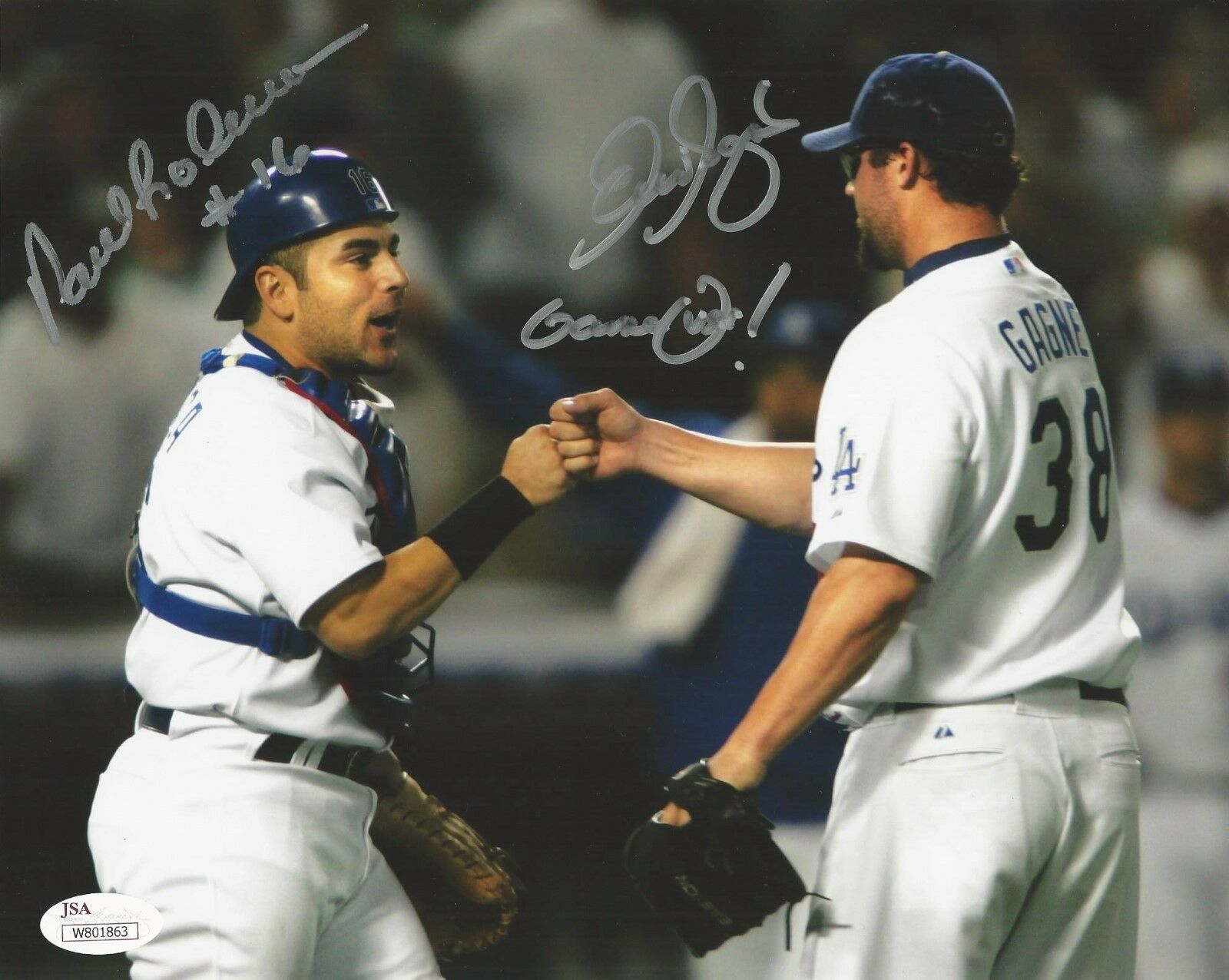 Eric Gagne & Paul Loduca Signed Los Angeles Dodgers 8X10 Photo JSA# W801863