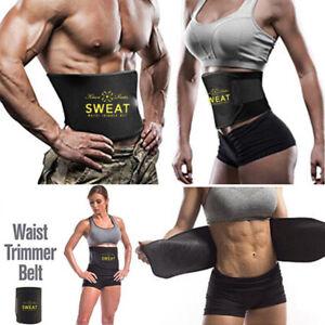 US-Women-Men-Hot-Sweat-Shaper-Waist-Trimmer-Belt-Waist-Trainer-For-Weight-Loss