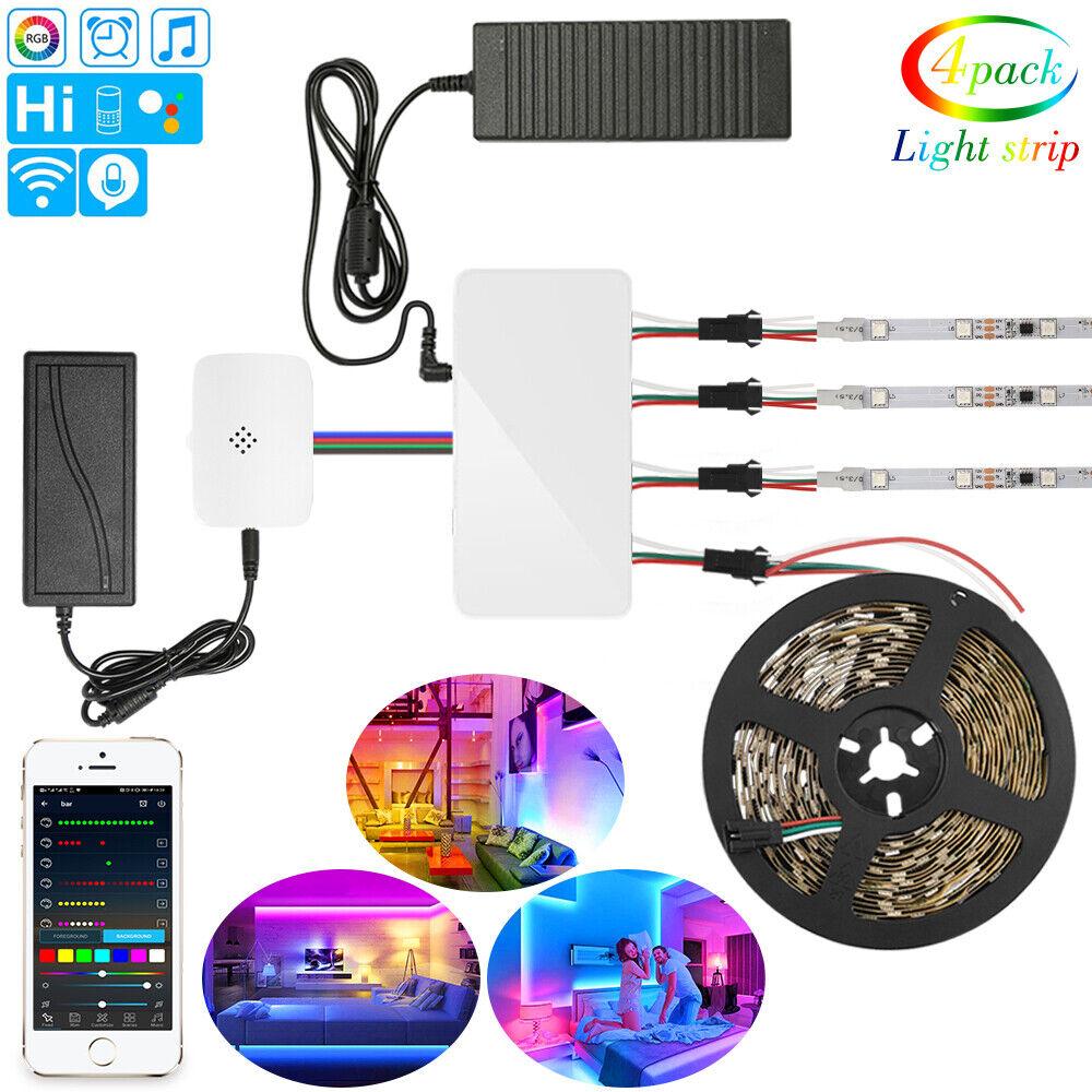 5/20m WIFI IC WS2811 RGB LED Streifen Stripe 150/300 LEDs 5050 Adressierbare 12V
