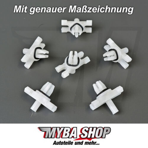 30x moulure parenthèse dachleisete support avec joint colliers BMW 51138204858 NEUF