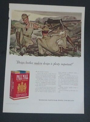 Advertising Responsible Original 1941 Print Ad Pall Mall Cigarettes John Falter Army Artillery Wwii Buy One Give One Merchandise & Memorabilia