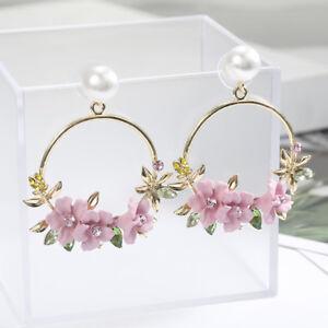 New-Ear-Personality-Flower-Stud-Fashion-Jewelry-Pearl-Earrings-Women-Temperament