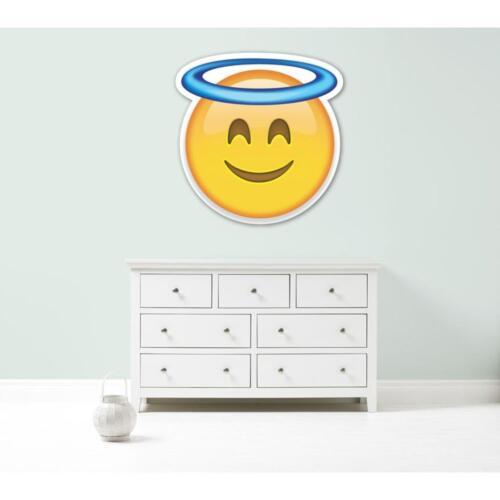 Emoji halo angel giant vinyl wall car decal sticker 5 size bedroom school office