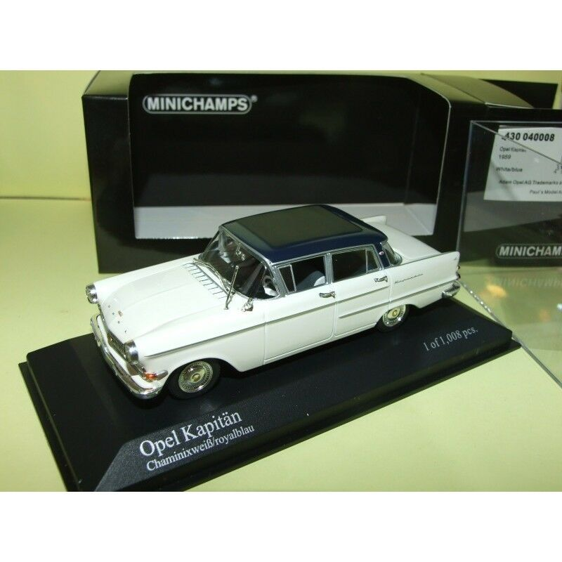 OPEL KAPITAN 1959 white et blue MINICHAMPS 1 43