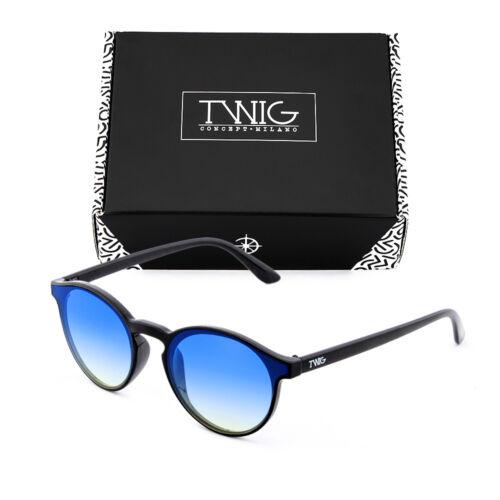 Sonnenbrille TWIG BALZAC Rund Verspiegelt Herren//Damen Jahrgang Retro