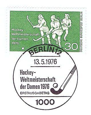 Berlin 1976: Hockey-WM der Damen Nr. 521 mit Ersttags-Sonderstempel! 1A! 1510