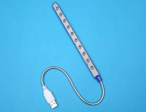 New USB Light Lamp for Notebook PC Laptop Computer 10 LED Keyboard Reading Torch