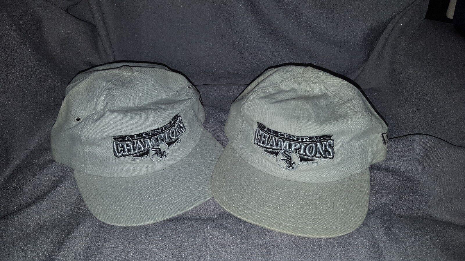 NEW ERA KHAKI STRAPBACK A.L. CENTRAL CHAMPIONS 2000 NEW CHICAGO WHITE SOX  NEW 2000 LOT 2 e85dc4