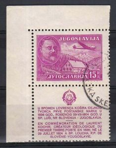 YUGOSLAVIA-1948-Lovrenc-Kosir-Air-Mail-USED