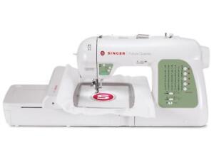 Singer-Sewing-Machine-Futura-Embroidery-SEQS-6000-30-Stitch-125-Designs-REFURB