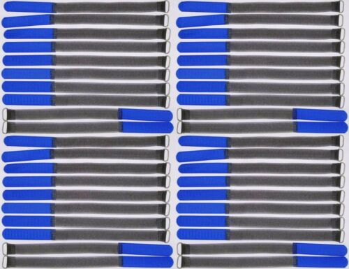 20 x cinta de velcro bridas 30 cm x 25 mm en amarillo velcro cintas cable velcro lengüeta de metal
