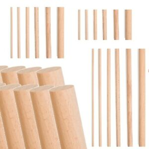 Wooden-Dowels-Wood-Craft-Sticks-4-to-20mm-Thick-10-to-30cm-Hardwood-Cake-Pins