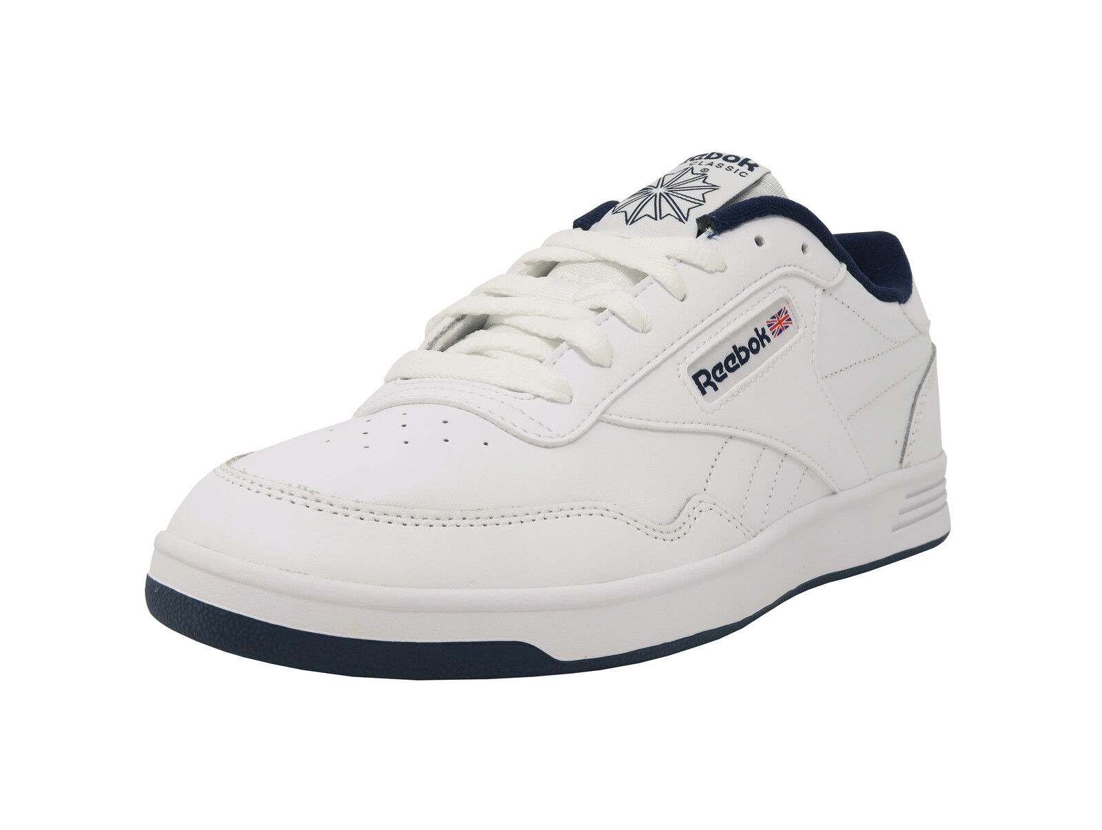 REEBOK Club MemTech MemTech MemTech 2.0 Classic White Navy Blue Athletic Sneakers Men Shoes ad8a95