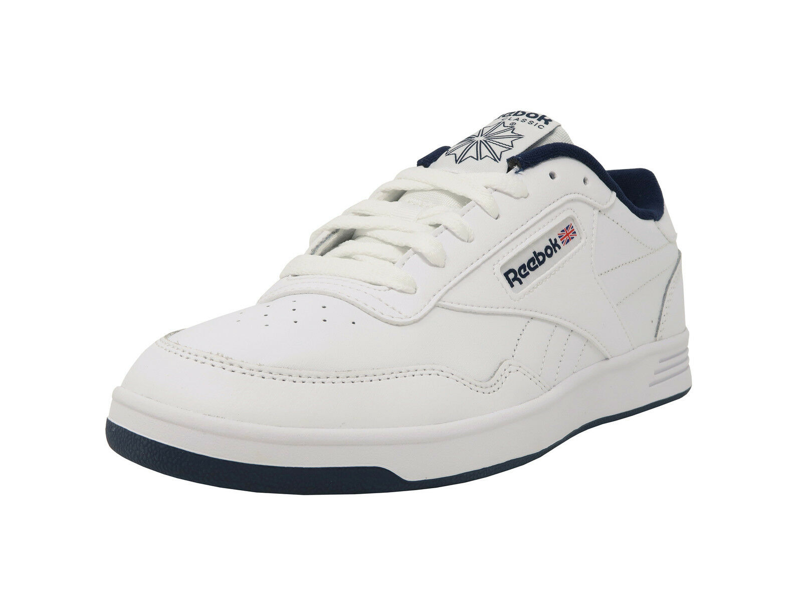 REEBOK Club MemTech MemTech MemTech 2.0 Classic White Navy Blue Athletic Sneakers Men Shoes 8a23d4