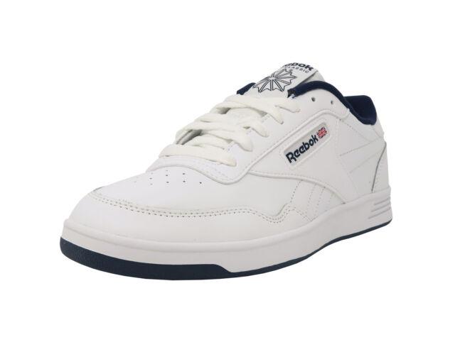 064d0f8a7 REEBOK Club MemTech 2.0 Classic White Navy Blue Athletic Sneakers Men Shoes