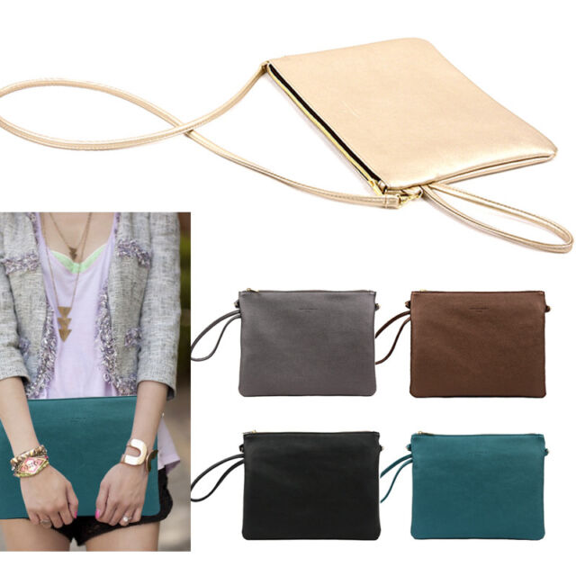 Style2030 NEW KOREA Womens Oversized Envelope Glossy Day Clutch Bags Purse