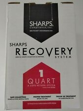 1 Quart Sharps Recovery Medical Waste Collection Disposal Free Return System New